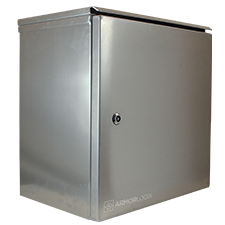 "19 x 19 x 12"" 5052 Marine Grade Aluminum Weatherproof Enclosure"