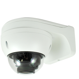 Wall mount bracket for Network and HD-over-Coax armor dome cameras