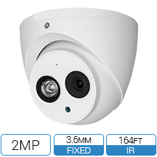 1080P 2MP HD-CVI camera with 3.6mm lens and built-in audio.