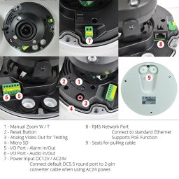 Advanced details and features of 4MP motorized IP network camera