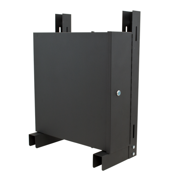 Vertical wall mount bracket with small DVR / NVR lockbox
