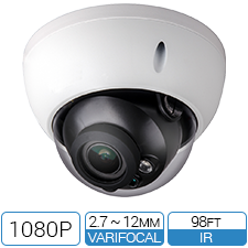 1080P HD-over-Coax Motorized Varifocal Armor Dome CCTV Camera