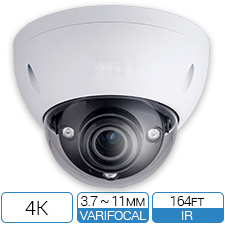 4K / 8MP HD-CVI IK10 Vandalproof CCTV Armor Dome from Optiview