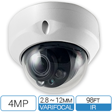 4MP HD-CVI IK10 Vandalproof CCTV Armor Dome from Optiview