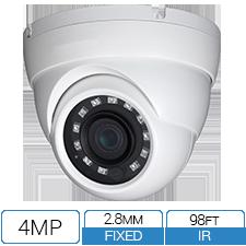 4MP 2.8mm wide angle fixed lens HD-CVI Armor Ball