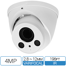 4MP Motorized Varifocal HD-CVI Armor Ball