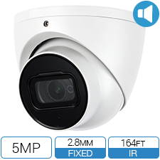 5 MP 2.8mm wide angle HD-CVI armor ball with built in audio