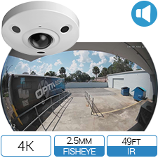 280 degree Fisheye HD-CVI camera with built-in Audio