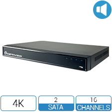 16 channel 4K 5-Way HD DVR with Audio over Coax