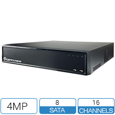 16 Channel 5-Way (Analog / CVI / AHD / TVI / IP) DVR with up to 4K recording resolution