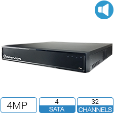 32 channel 4 Megapixel 5-Way HD DVR with 4 hard drive spaces.