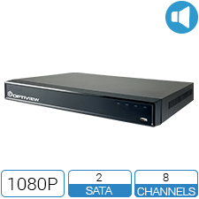 8 Channel 1080P 5-Way DVR with audio over coax