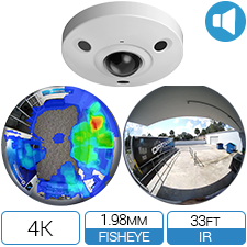 12 Megapixel / 4K network fisheye camera