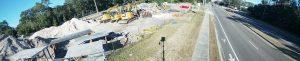 IP 180 degree panoramic construction site surveillance