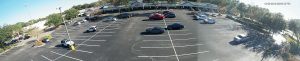 IP 180 degree panoramic fitness center or parking lot surveillance