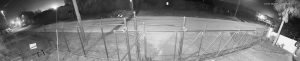 IP 180 degree panoramic event surveillance - New Years Eve fireworks