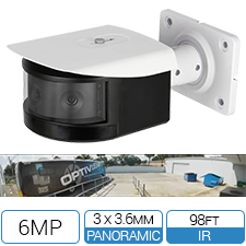 180 degree panoramic network bullet camera