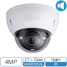 4MP Network Armor Dome with motorized zoom.