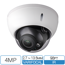 4 MP IP Vandalproof Armor Dome with 98ft IR