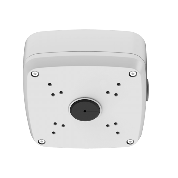 Junction box for fixed network and coax armor ball security cameras
