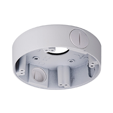 Junction box for varifocal network and coax armor ball security cameras