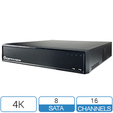 16 channel embedded network video recorder with 16 built in PoE ports. Holds 8 x hard drives. Advanced video functions.