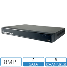 8 Channel network video recorder with 8 built-in PoE switches