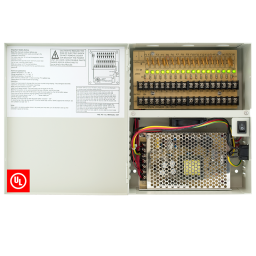 18 channel 20 amp power supply for CCTV installations