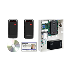 2 Door Access Control Panel Kit with 2 Proximity Readers, 2 spacers, and 50 proximity cards
