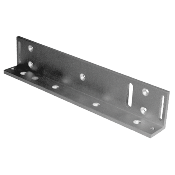 L Bracket for 600 pound (lb) magnetic lock for access control.