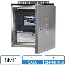 8 Channel 8 Megapixel Weatherproof NVR Solution