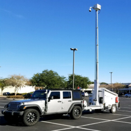 AL3500-GS with surveillance package deployed in parking lot