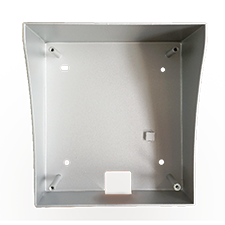 Surface mount bracket for Optiview all-in-one video intercom module.