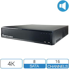16 channel 4K HD DVR with up to 80TB storage.