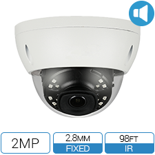 2 Megapixel network camera with built in audio.