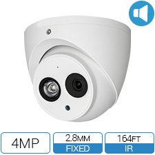 4 Megapixel Network Armor Ball CCTV camera with built in audio.