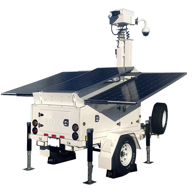 1,050 Watt Solar Powered Mobile Surveillance Trailer from Optiview