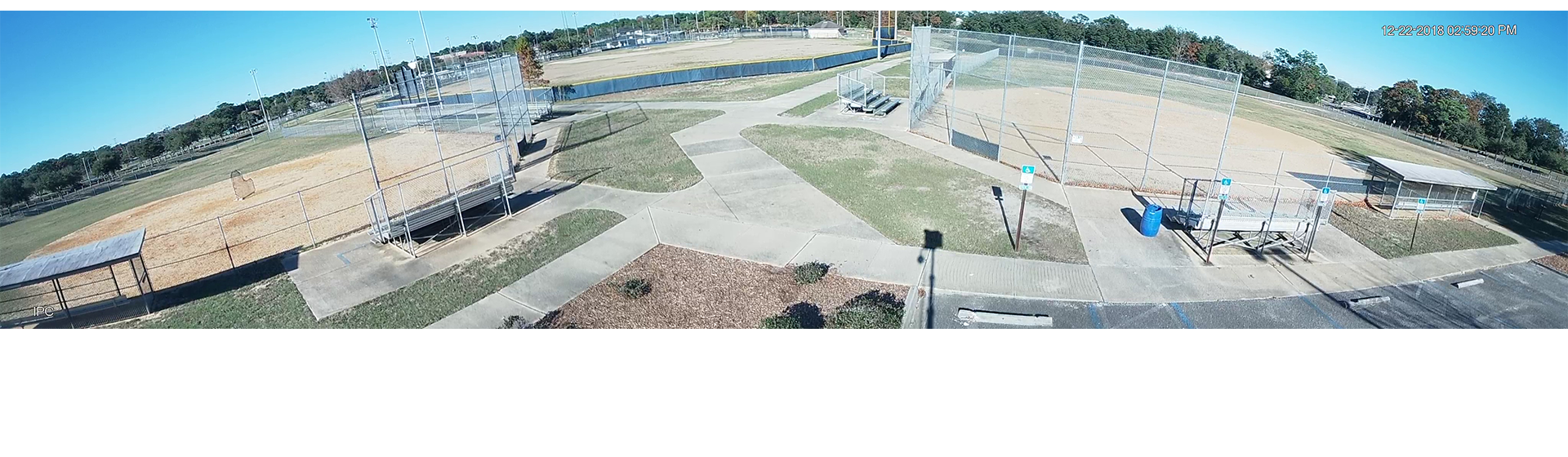 Solar powered event surveillance - Baseball Field
