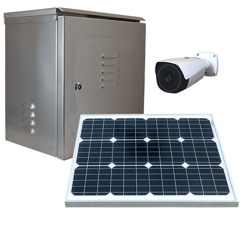 Solar powered weatherproof dvr or nvr security system.