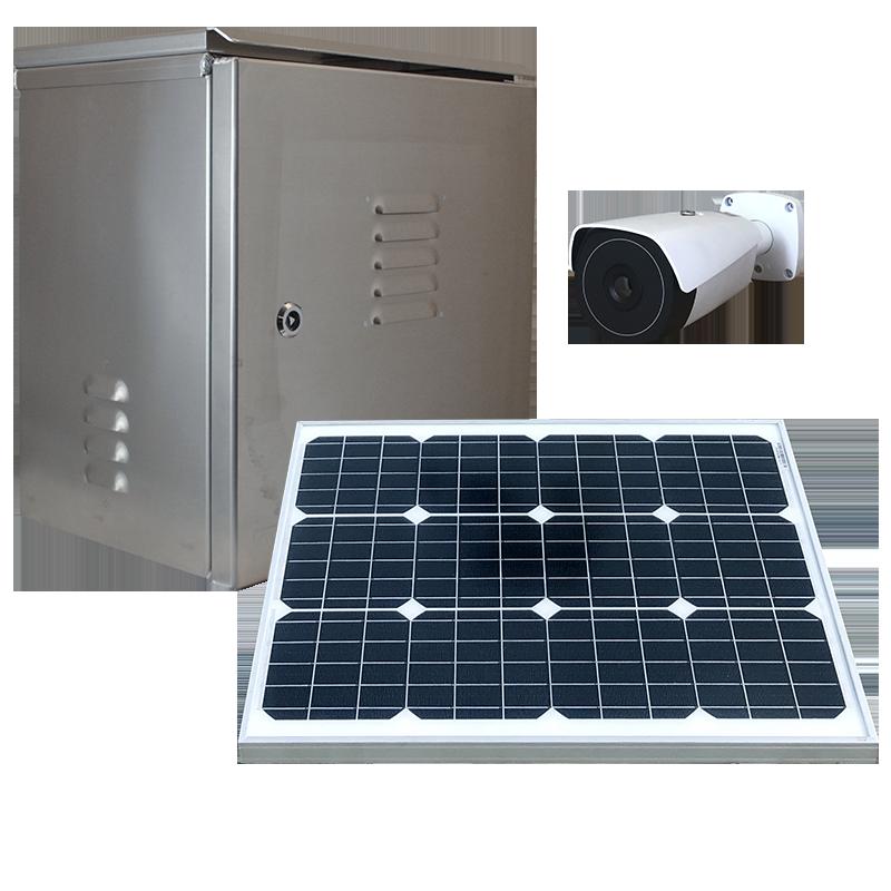 Solar powered weatherproof dvr or nvr security system.