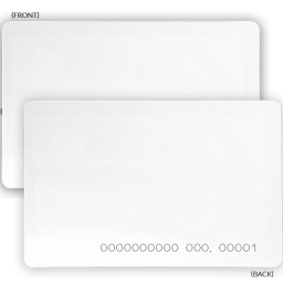 Programmable proximity card for access control solutions.
