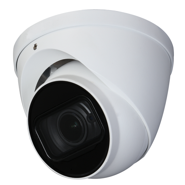 4K HD-CVI camera with motorized zoom and audio over coax.