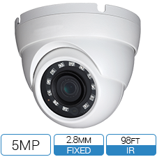 5MP HD-CVI armor ball camera with 2.8mm wide angle lens