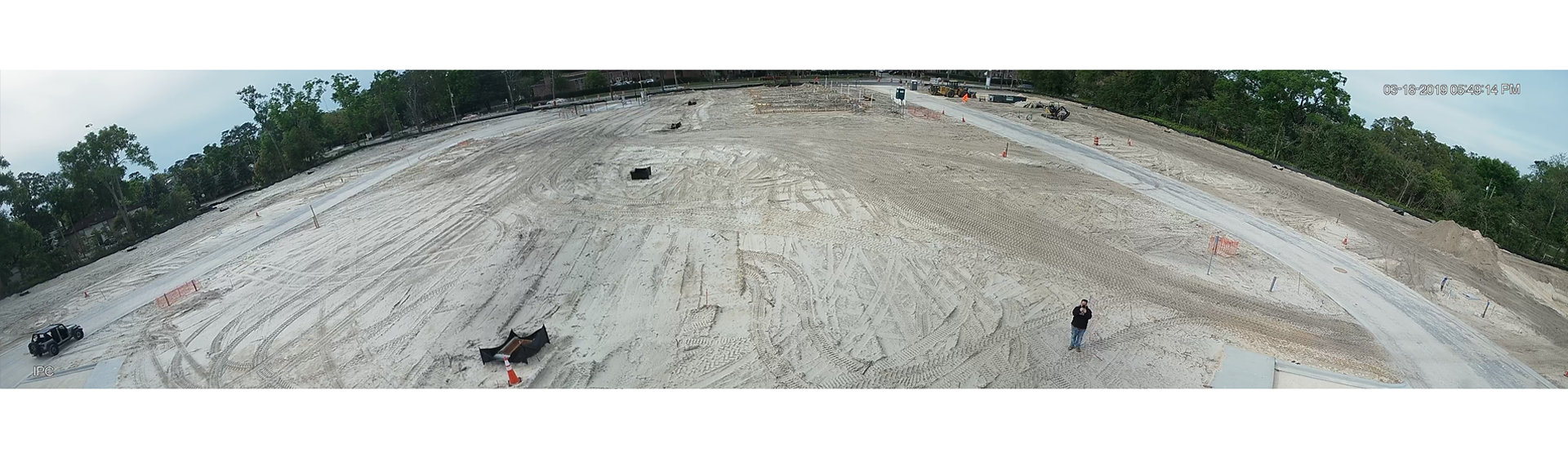 Construction Site Overview with 180° Panoramic Bullet Camera