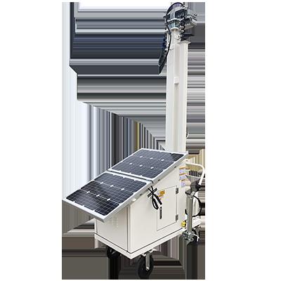 Solar Powered Surveillance Carts