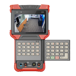 5-in-1 (Analog / CVI / TVI / AHD / IP) 4K Test Monitor with flip out QWERTY keyboard