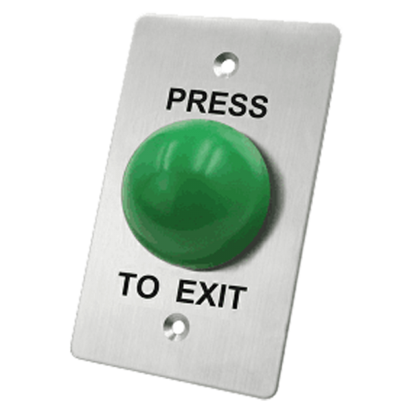 request to exit button with green cap for access control optiview