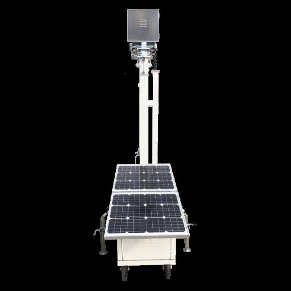 Solar powered network surveillance cart