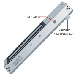 LED indicator and Motion Sensor on 600 pound mag lock for access control