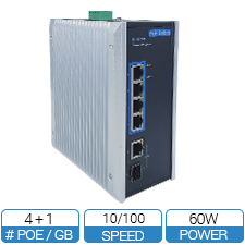 4 Port Industrial PoE Switch